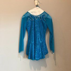 Figure Skating Aqua Jewel Competition Dress